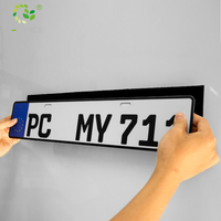 Outdoor car number plate holder fixing sticky pad license plate holder double sided hook and loop tape