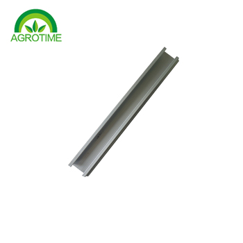 Low Cost Wiggle Wire aluminum locking profile for film  greenhouse