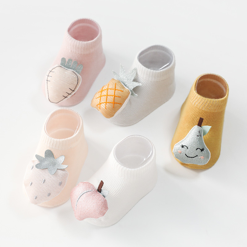 2020 New Arrival Cute 3d Cotton Anti Slip Baby Socks Wholesale Summer Cozy Ankle Non Slip Floor Socks For Kids 0-3 <strong>Y</strong>