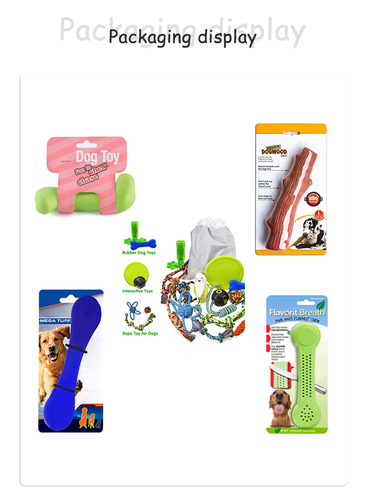 Wholesale rubber dog toy bone chewing non-toxic dog toys safe and durable pet chewing toys