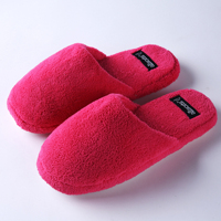 Famous platform woman plush winter indoor lady daily wear slipper