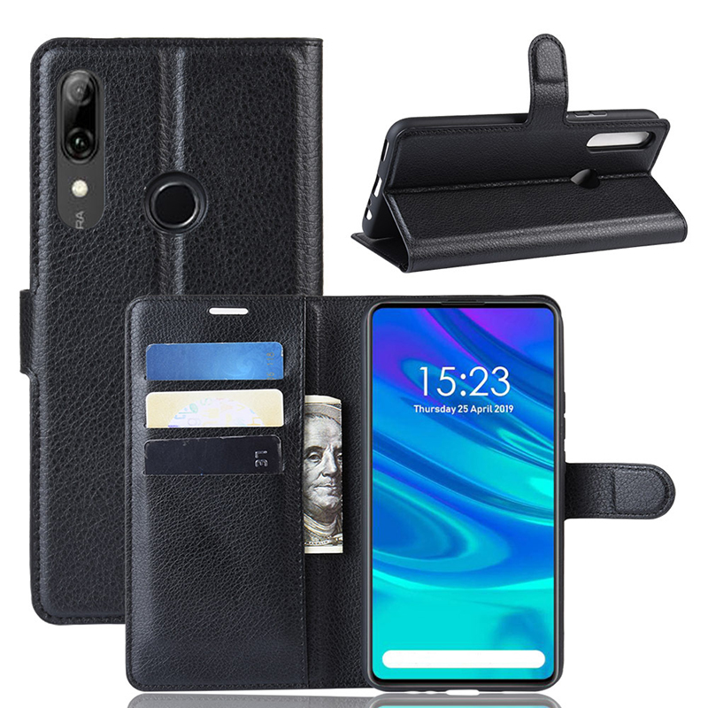 Luxury PU leather wallet flip card slot phone <strong>case</strong> for Huawei P smart <strong>z</strong> y9 prime 2019