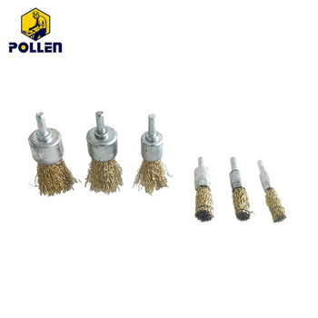 Stainless steel brass wire end brush for cleaning car