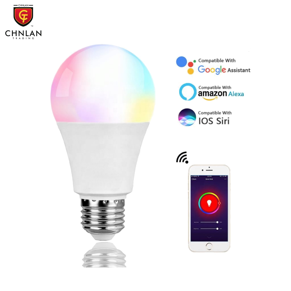 Tuya Google Home Alexa 10W E26 E27 Home Dimmable WiFi LED RGB Light Smart Wifi <strong>Bulb</strong>