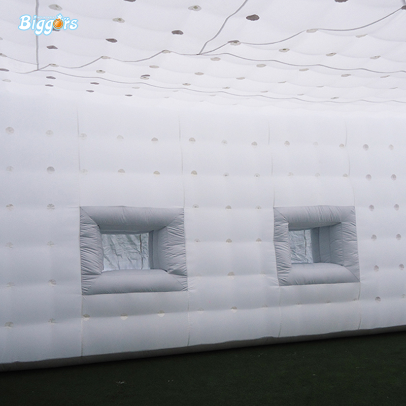 Simple and Generous Style of White Rectangular Inflatable Tent