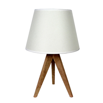 whosale modern home goods wooden tripod table lamp with TC fabric lampshade