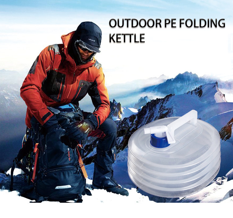 Professional Car Automobile Cycling Hiking Outdoor Camping 3L 5L 8L 10L 15L Portable Folding Clear PE Water Sports Kettle
