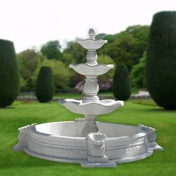 Factory prices turnkey project outdoor 3 Tier marble water fountain