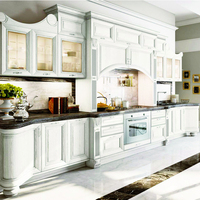 2020 new model American RTA Standard Luxury white Classic Solid Wood Kitchen Cabinet