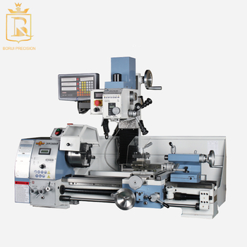 gear box lathe drilling and milling three-in-one multifunctional manual bench machine tool