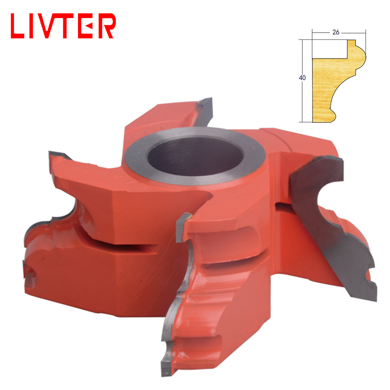 LIVTER Carbide Shaper Cutter for Table Trimming Edges Spindle Moulder Cutter TCT Wood Profile Cutter