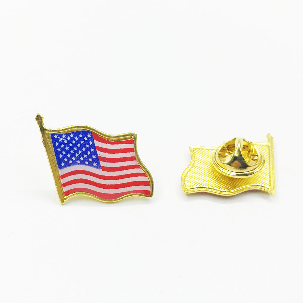 New Jersey USA Flag Lapel Pin Badge
