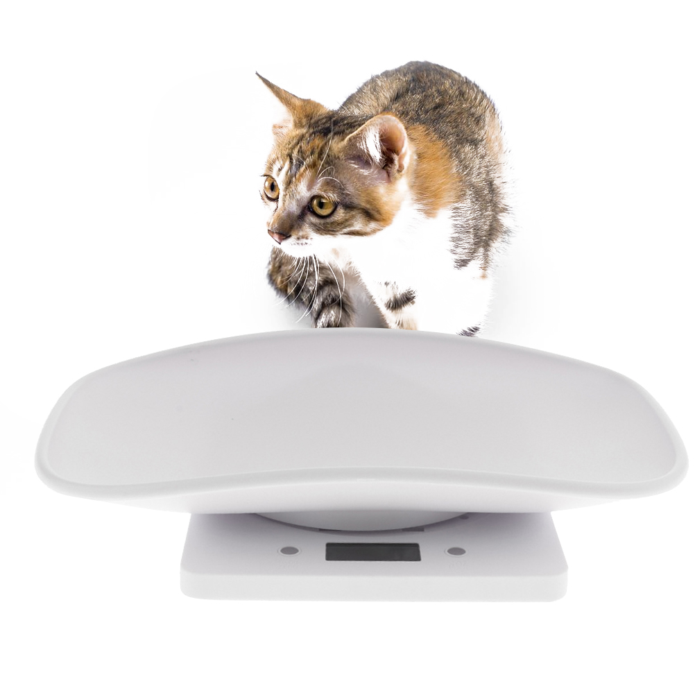 Portable Electronic Pet Scale <strong>Digital</strong> Display Measure Tool Infant Pet Newborn Baby Dog Cat 1g-10kg