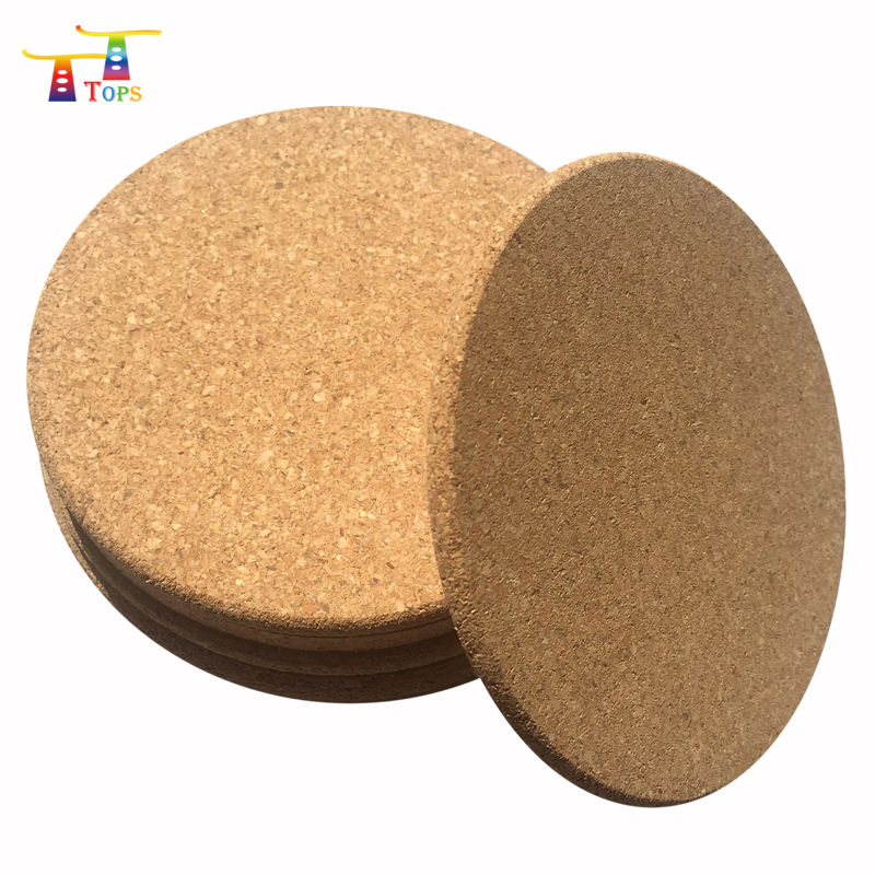 Direct Manufacturer 8.5cm Tourist Souvenir Square Hard Board Coasters Mdf With Cork Bottom Wine Coaster Sets