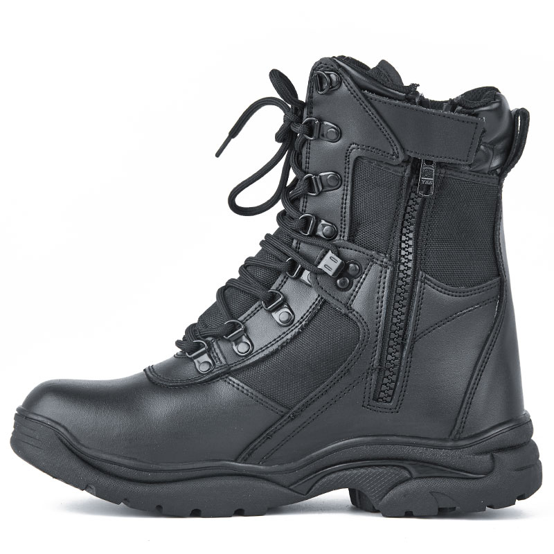 China Manufacturer OEM Tactical Leather Breathable Police Waterproof Hiking boots