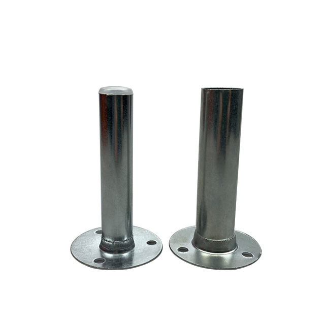 2019 Best sell Caiyi silver metal iron fittings iron swage sleeve tube <strong>hardware</strong> for furniture