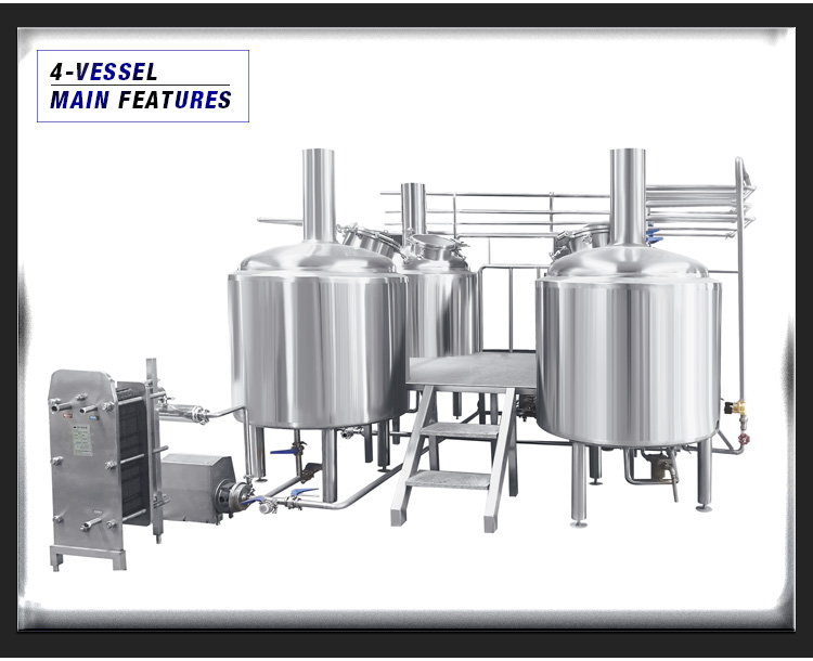500L 4 Vessels brewing equipment