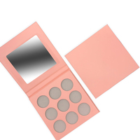 Empty eyeshadow palette private label eyeshadow cardboard