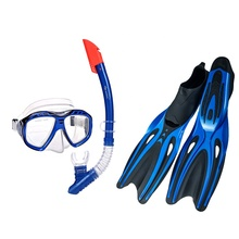 Cheap professional scuba silicone diving mask and snorkel with fins set