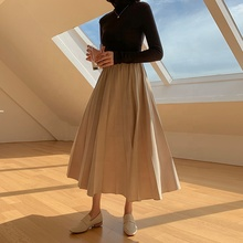 Korean Fashion Woman Long Summer Women High Waisted Casual Midi Pleated <strong>Skirt</strong>