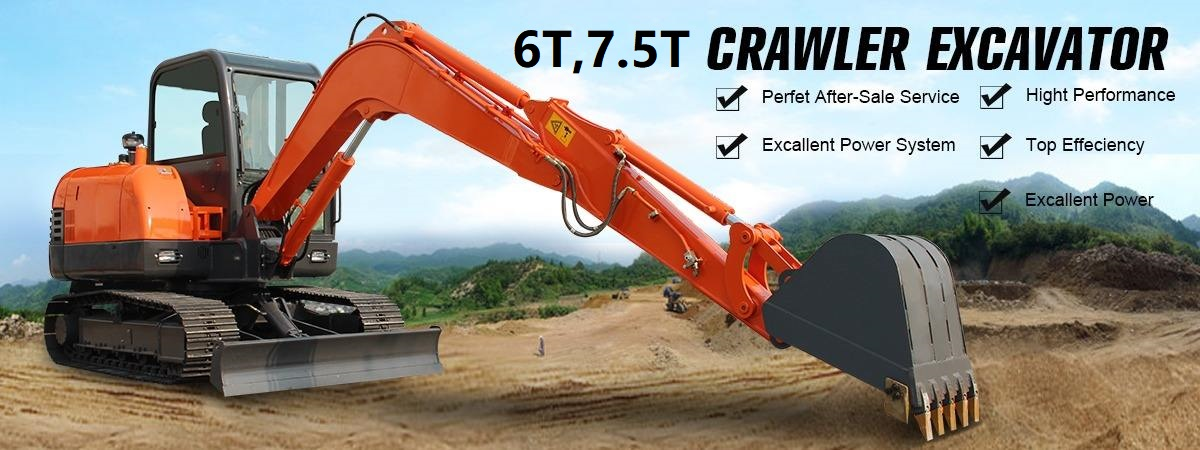 Top Exported Chinese Brand Hydraulic Excavator SY75C