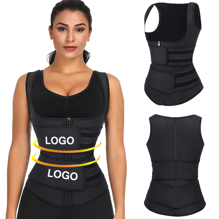 Custom Logo Latex Waist Trainer Corset Vest For Weight Loss Slimming Vest Women Private <strong>Label</strong>