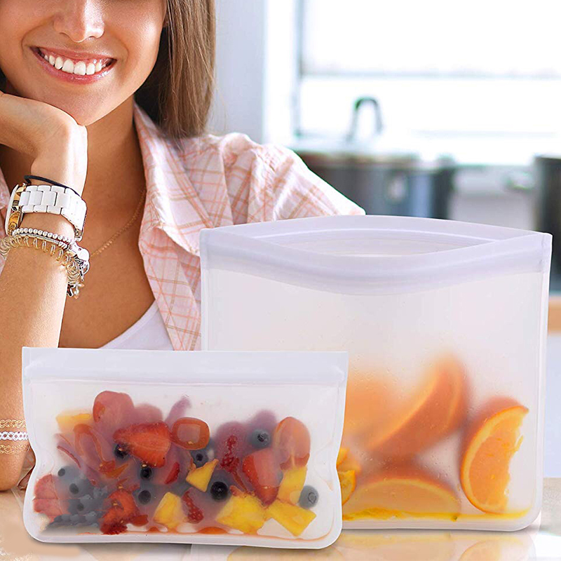 Food Storage Containers Leakproof Containers Reusable Stand Up Zip Shut Bag Cup Fresh Bag Food Storage Bag