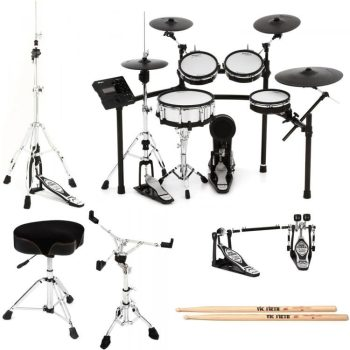 Roland V-Drums TD-50K-S Bundle 6-Piece Electronic Drum Kit with extra PDX-100 Pad and BT-1
