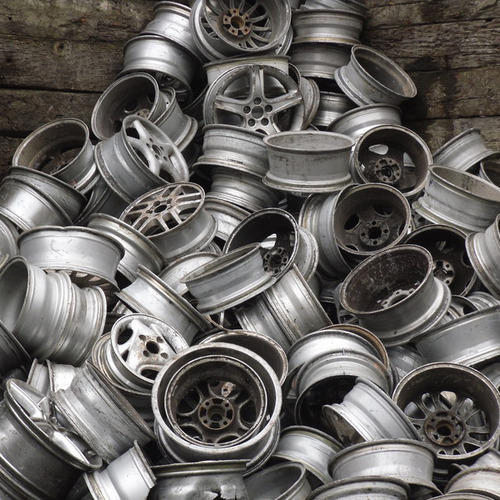 scrap aluminum wheel