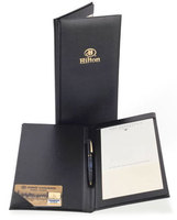 Restaurant, Hotel Guest Check Bill Presenter Holder, Bill Folder, Leather Folder with pen strap