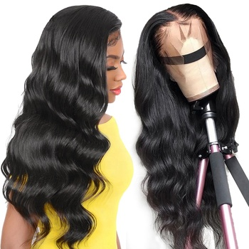 Wig Factory Glueless Unprocessed High Quality Large Stock 8-26 Inch Body Wave Brazilian Human Hair Full Lace Wigs