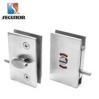 Top Quality 304 Stainless Steel Glass WC Door Bath Lock Indicator/toilet lock