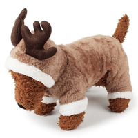 Cute Reindeer Deer Elk Design Dog Christmas Clothes Costume Pet Costume Puppy Jumpsuit Outwear Coat Apparel Hoodie