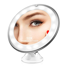 Vanity Table Top Magnifying Lighted Makeup Mirror with Suction Pad