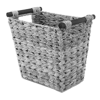Easy transport rectangular garbage container plastic basket with handle