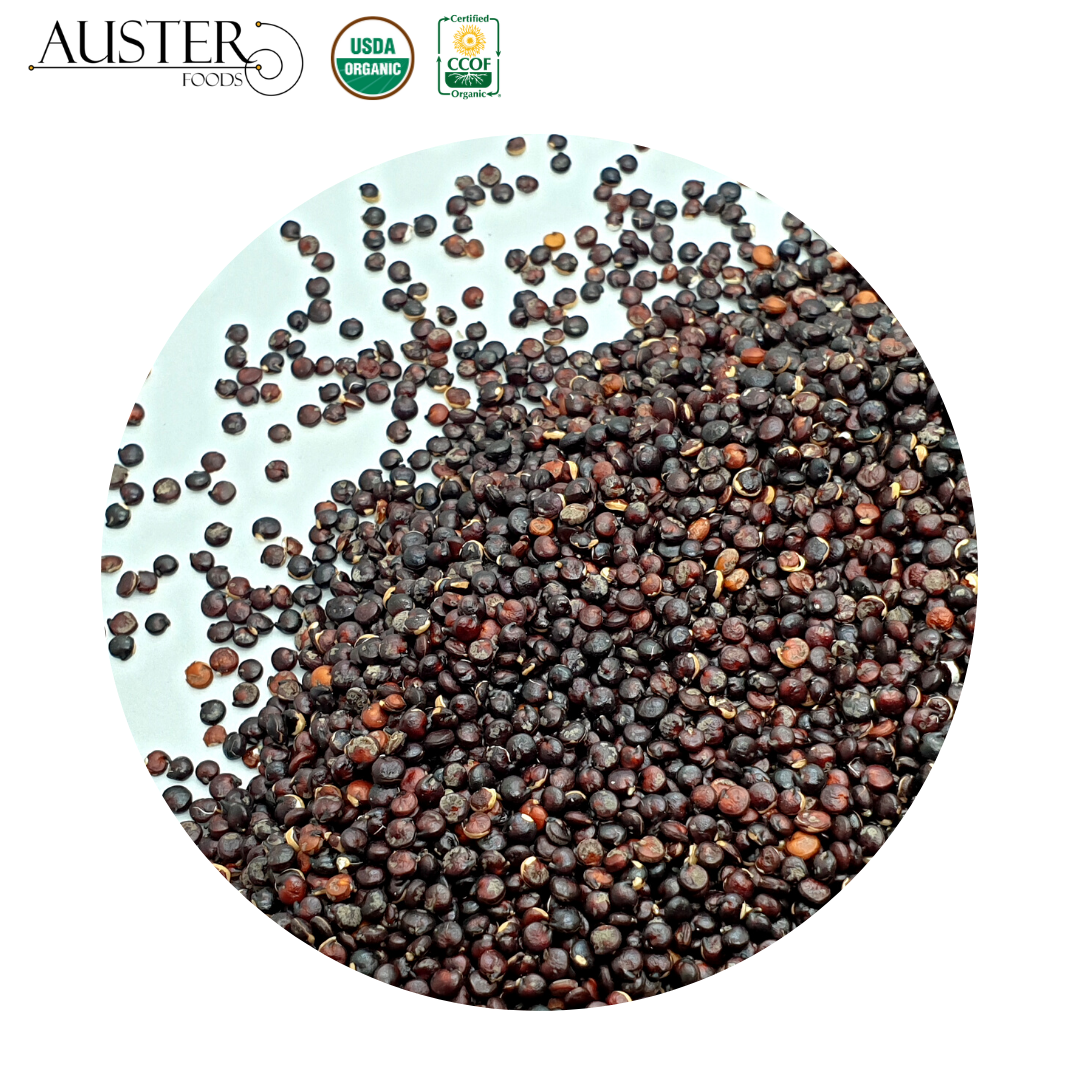 Organic Black Quinoa <strong>Grains</strong> (Stock in the USA. Pallet orders)