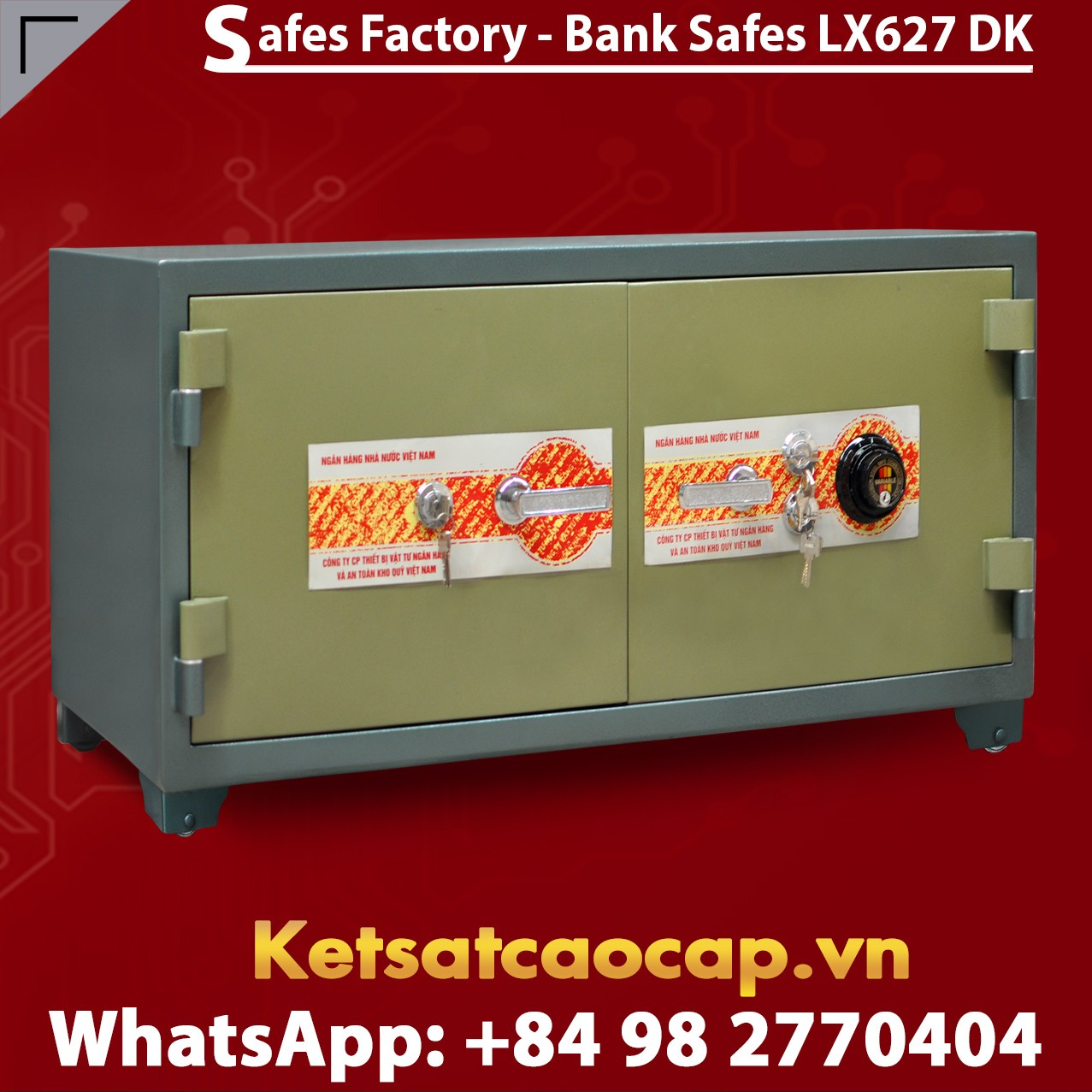 Bank Safe LX627 DK Two Doors Cheap Price Stainless Steel Security Safe