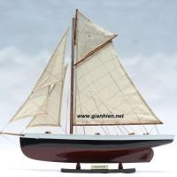 PURITAN PAINTED SAILING YACHT - SAILING BOAT GIFT - WOODEN MODEL BOAT