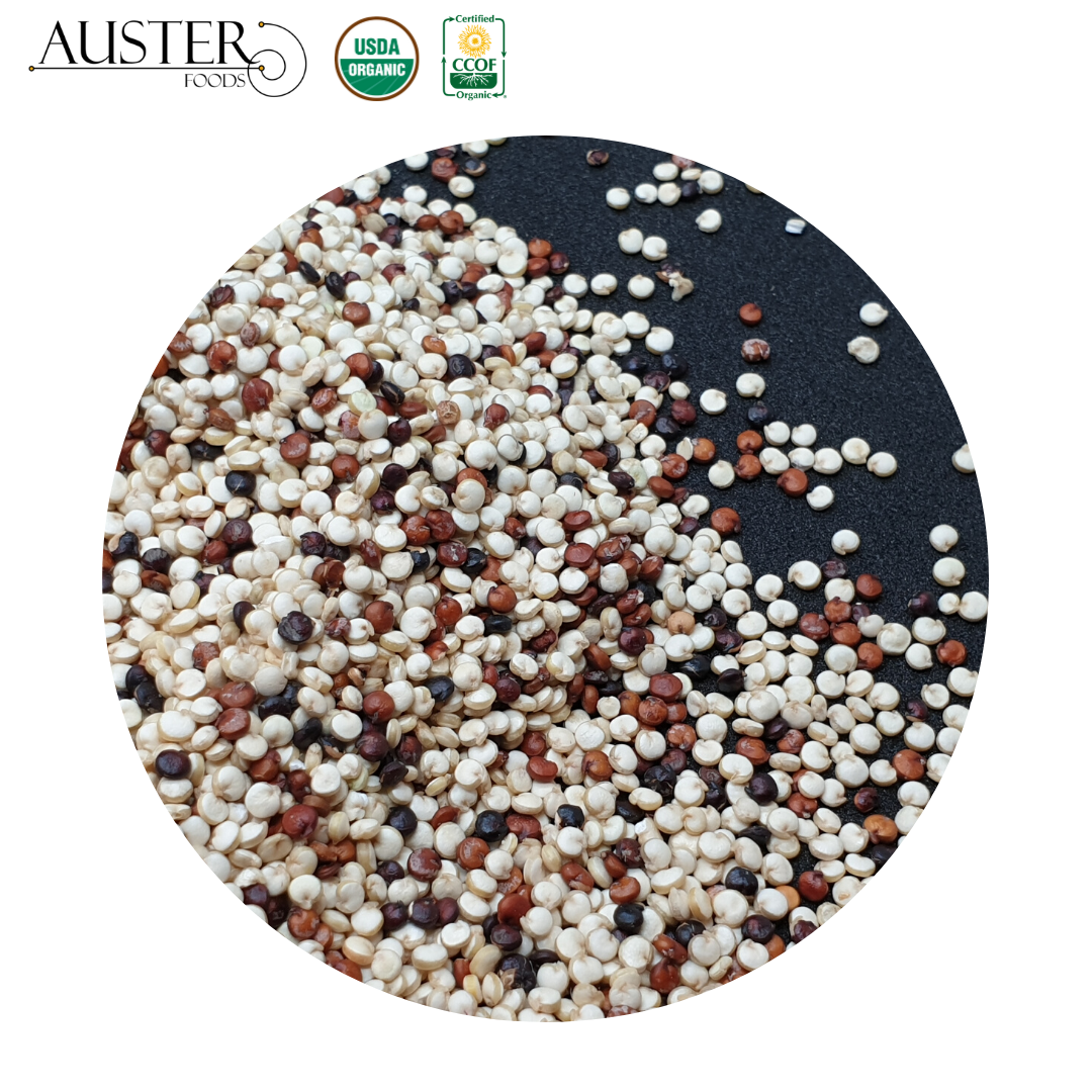 Organic Tricolor Quinoa <strong>Grains</strong> (Stock in the USA. Pallet orders)