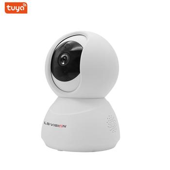 LS VISION Tuya Smart Home Security Camera 720P 1080P Ptz Auto Tracking Alarm Cloud Storage Wifi 360 Degree Rotation Cctv Cameras