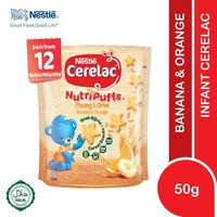 Cerelac Nutripuffs Banana & Orange 50g Baby Food