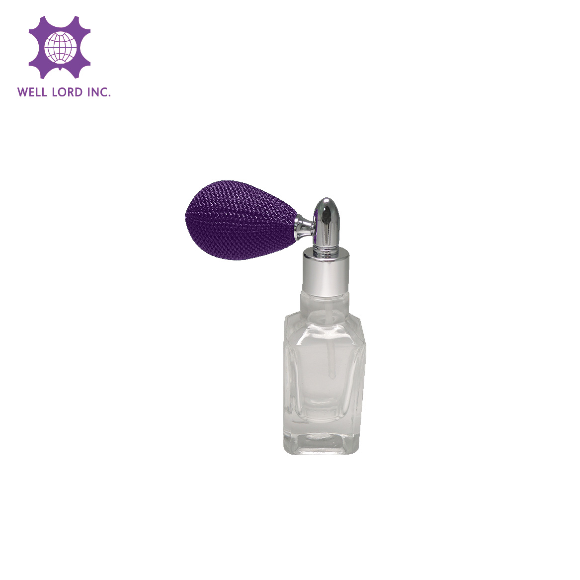 2019 New item 13ml glass bottle with purple iris color bulb rectangular glass bottle