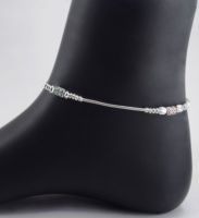 Sweet Silver Rope Anklets For GIrls