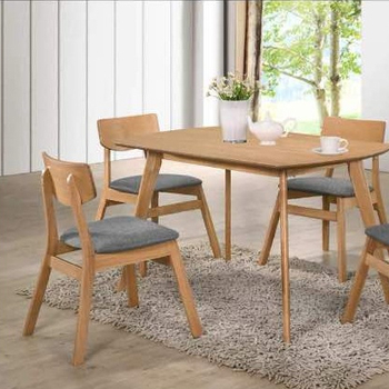 Malaysia furniture 4 seater dining table set for dining room furniture made in Malaysia with factory price