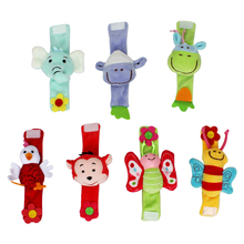 Cartoon Plush Animal Soft Wrist Rattles Baby Toy