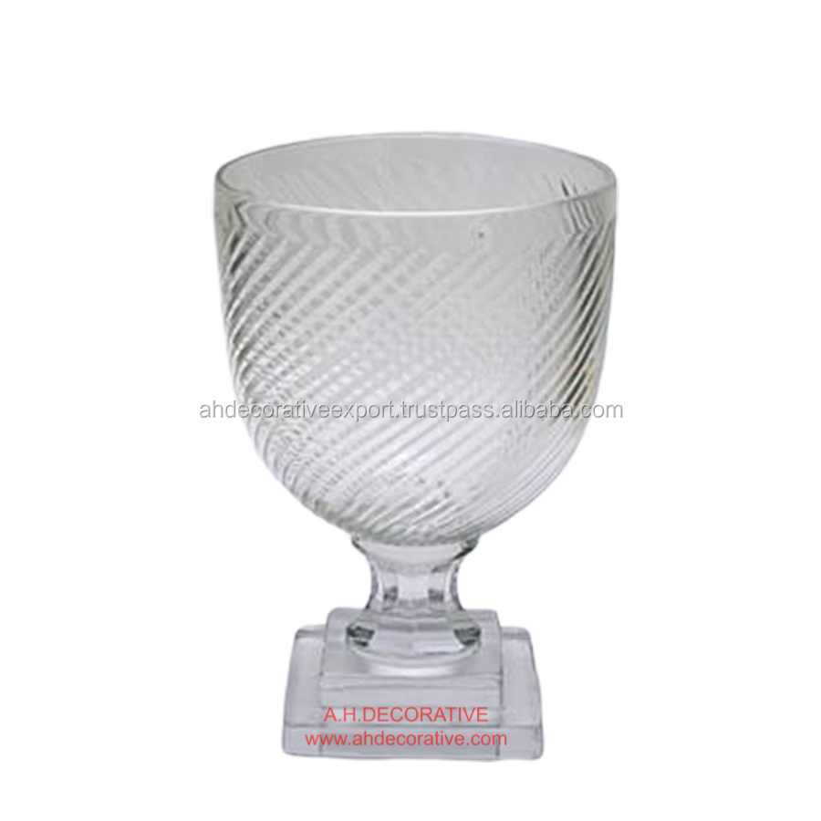 Clear Decorative  Flower Vase