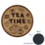 10cm Embroidery Cork Fabric Tea Time Coaster