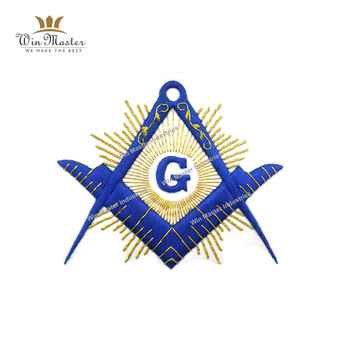 Masonic Regalia hand made bullion wire Badge Square and Compass G