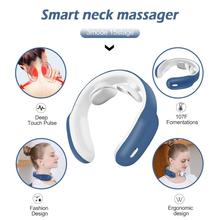 Neck Massager,Intelligent Wireless Portable 4D Neck Massage Equipment,Deep Tissue Massage Trigger <strong>Point</strong> for Office, Home, Sports
