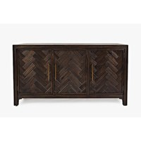 Factory wholesale wooden 3 door vintage TV sideboard accent cabinet for living room furniture